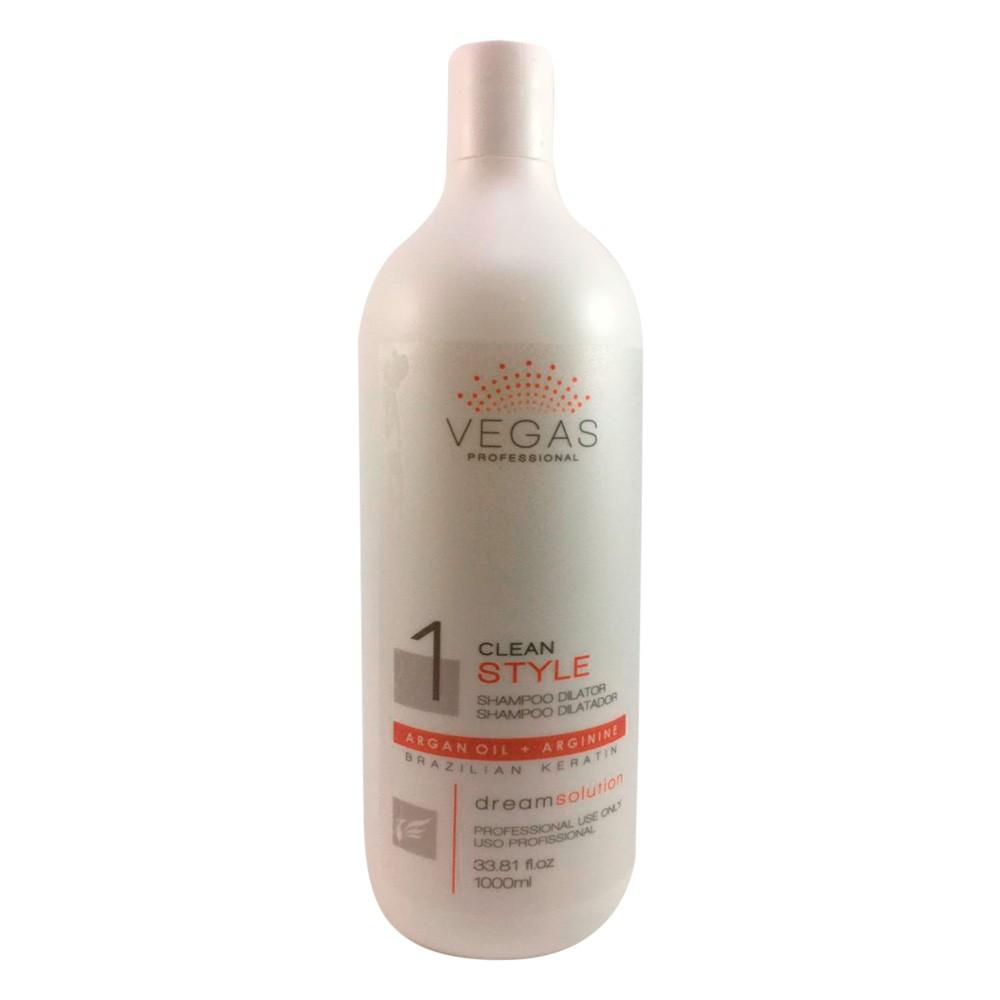 Shampoo Dilatador Vegas Professional Clean Style 1000ml