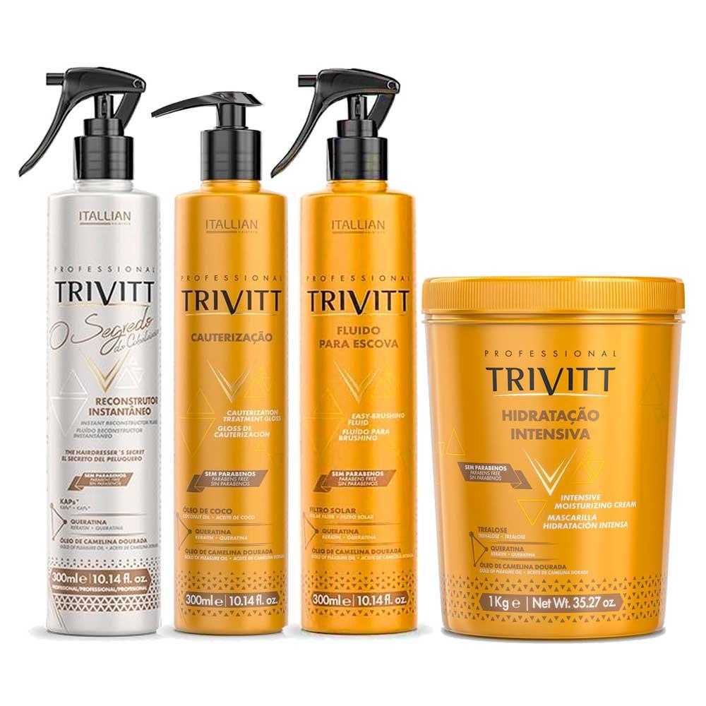 Itallian Trivitt Kit Hidratação e Reparação Pós-Química 4 Produtos