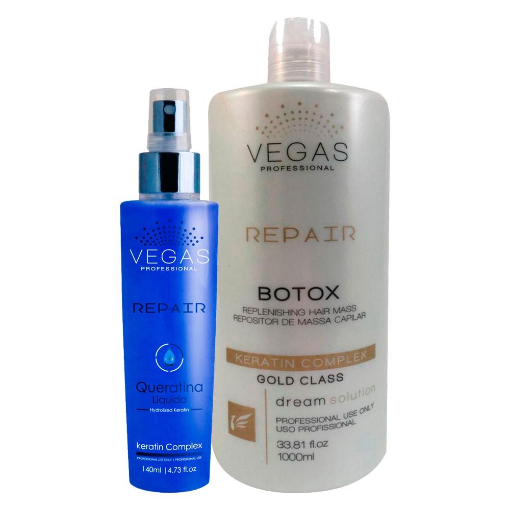 Kit Vegas Professional Botox + Queratina Repair 2 produtos
