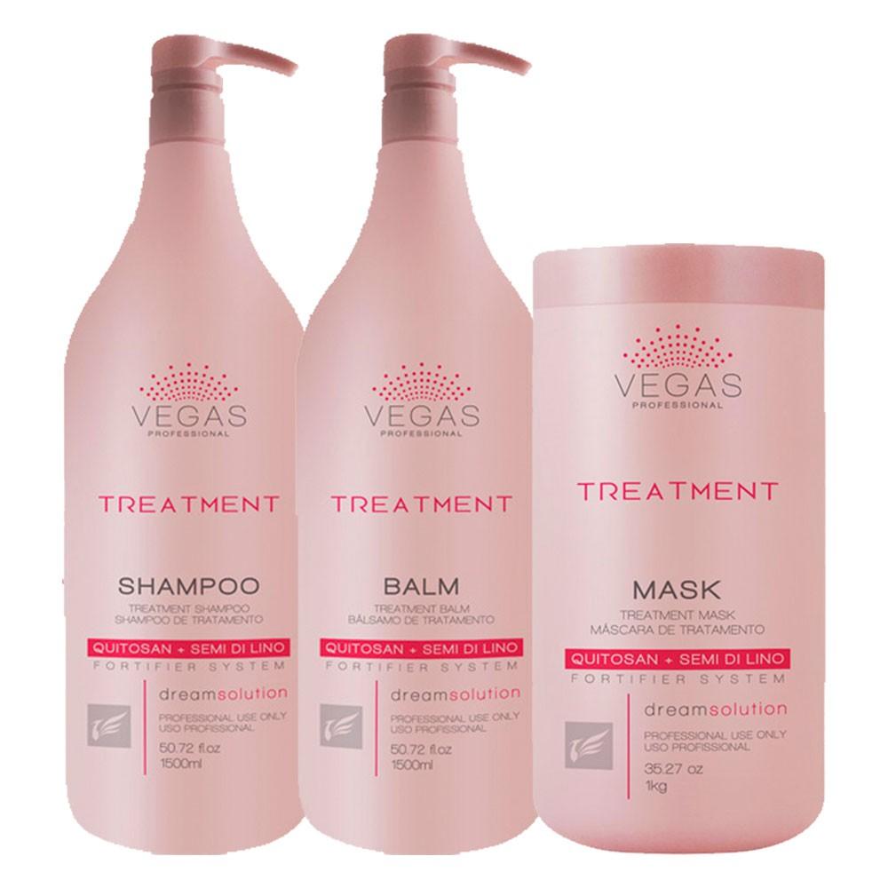 Kit Vegas Professional Treatment Shampoo + Bálsamo + Máscara