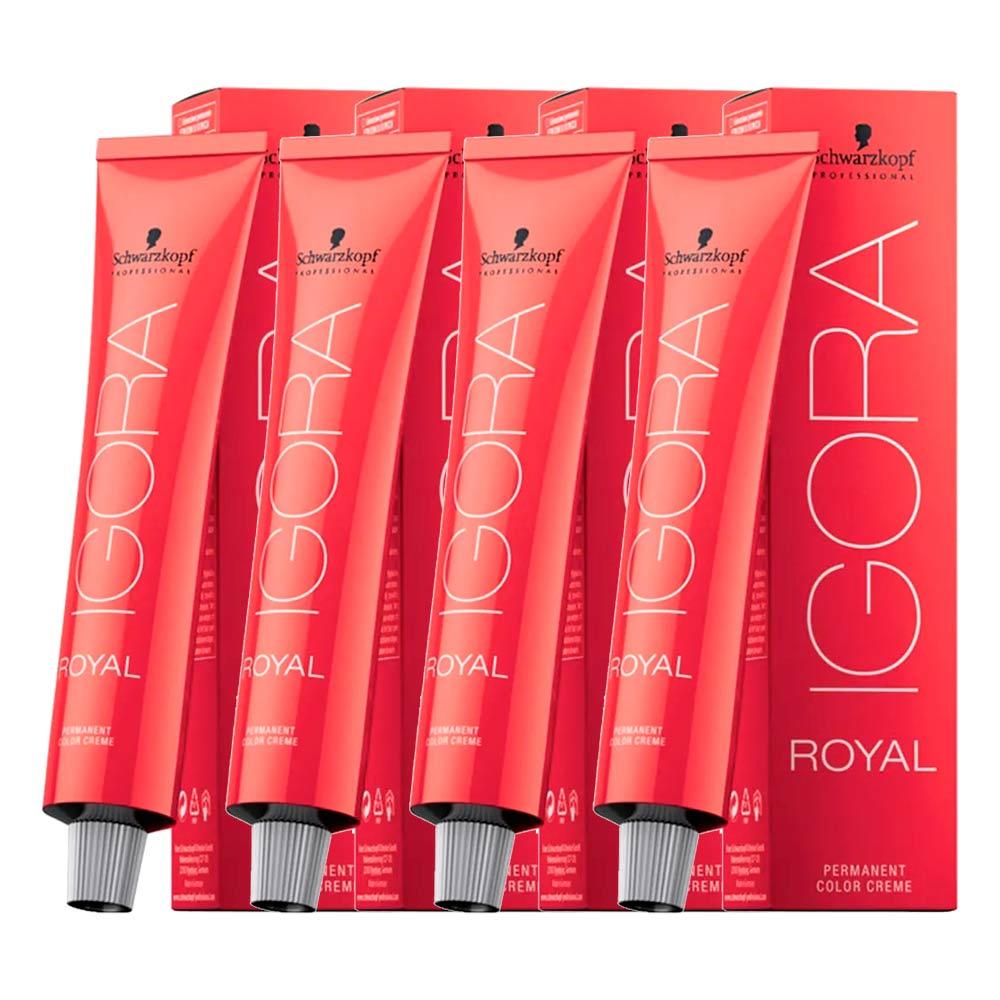 Kit 03 Coloração Igora Royal 8.77 + 01 Igora Royal 7.77