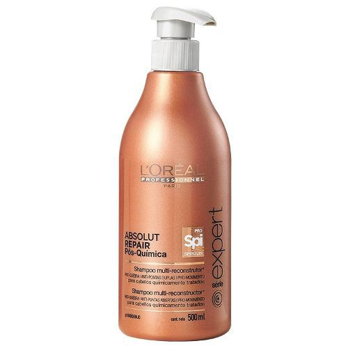 Shampoo Loreal Absolut Repair Pós Química 500ml