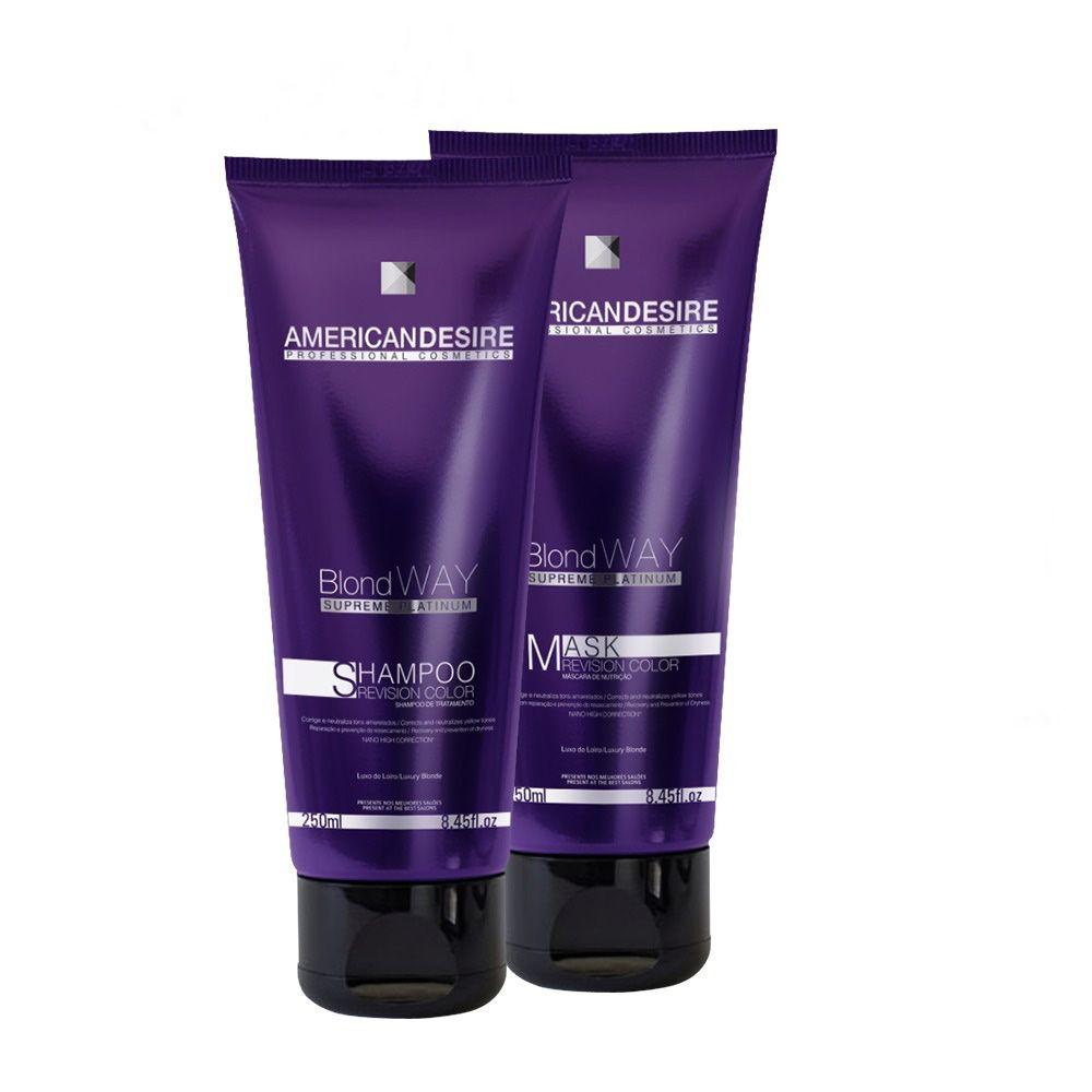 Shampoo e Máscara American Desire Blond Way Supreme Platinum