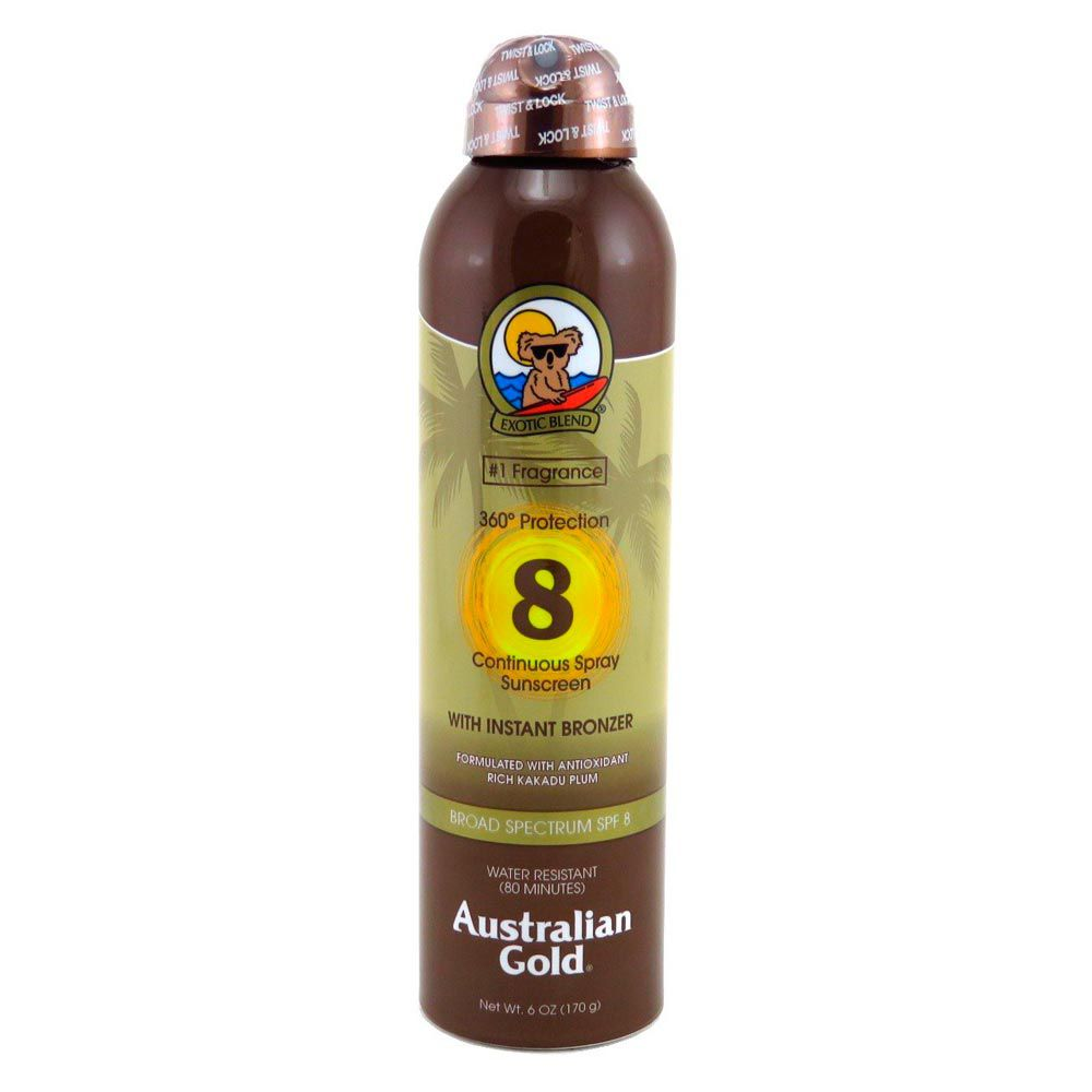 Australian Gold Protetor Solar SPF 8 Spray Bronzer 177ml
