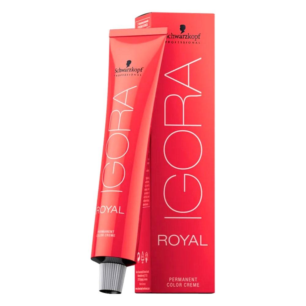 Coloração Igora Royal 6.12 Louro Escuro Cinza Fumé 60g