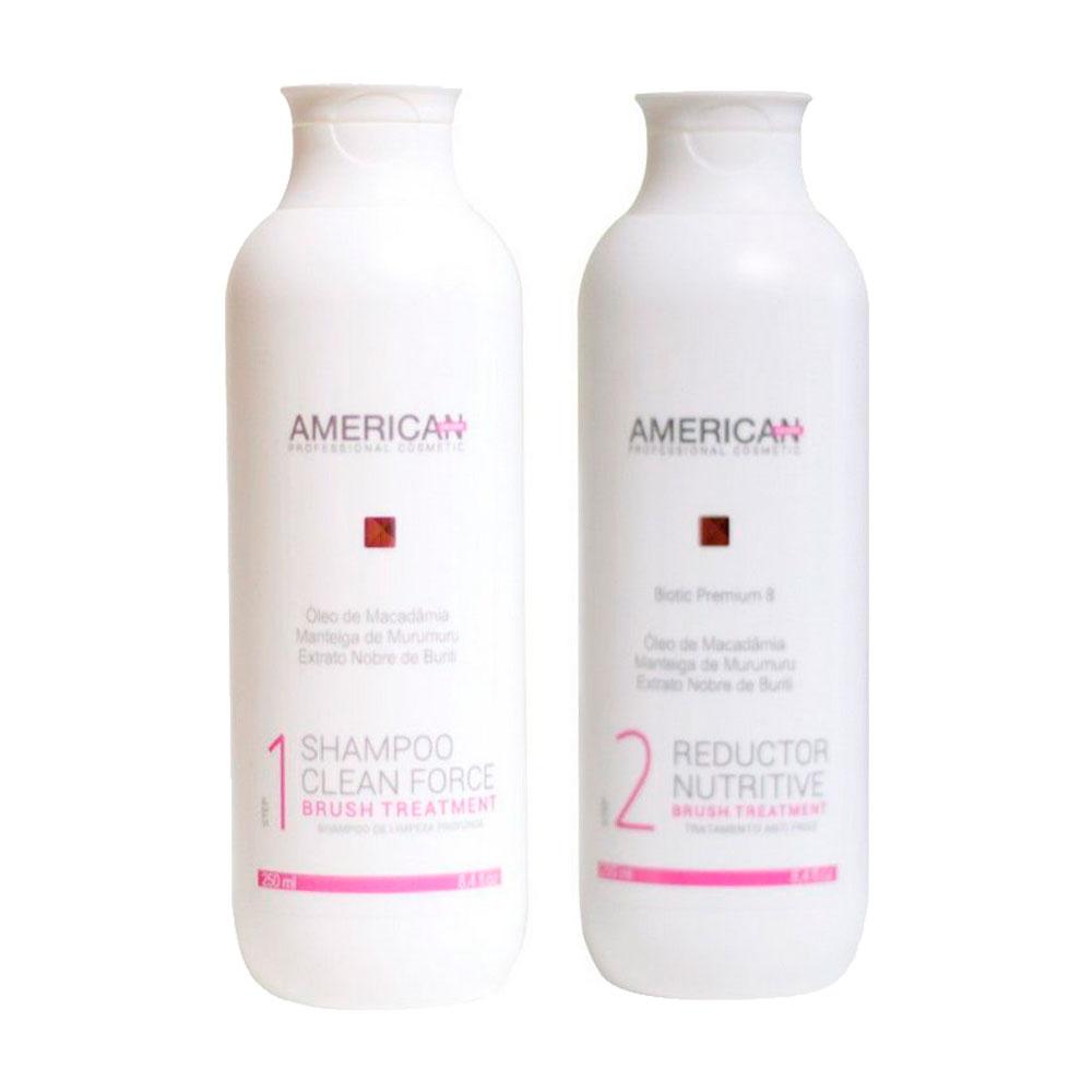 Escova Progressiva American Desire Fusion Brush Kit 250ml
