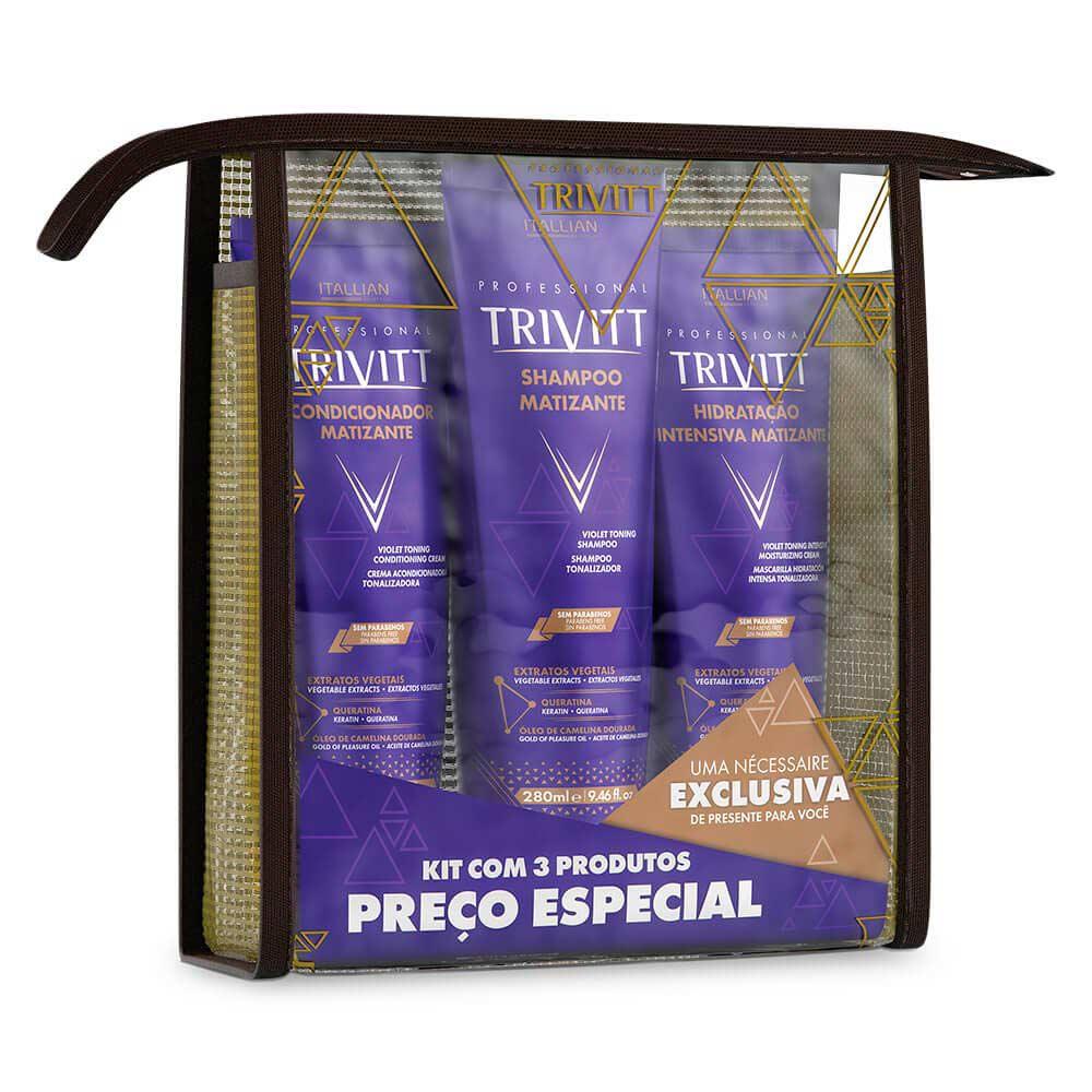 Itallian Trivitt Matizante Kit Home Care c/ Hidratação Intensa