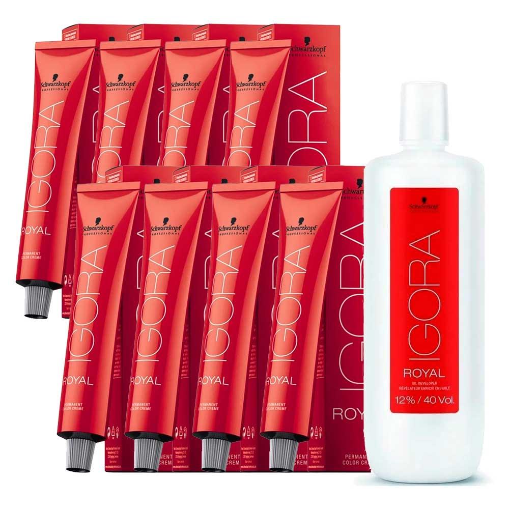 Kit 2 Coloração Igora Royal 7-0 2 6-0 2 6-1 2 6-65 1 Ox 40
