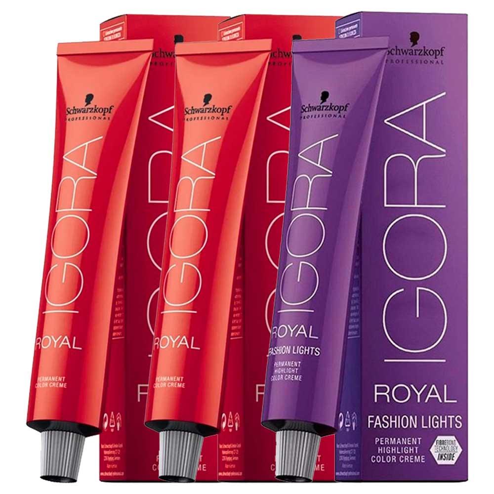 Kit 2 Coloração Igora Royal 8-77 e 1 Igora L-77