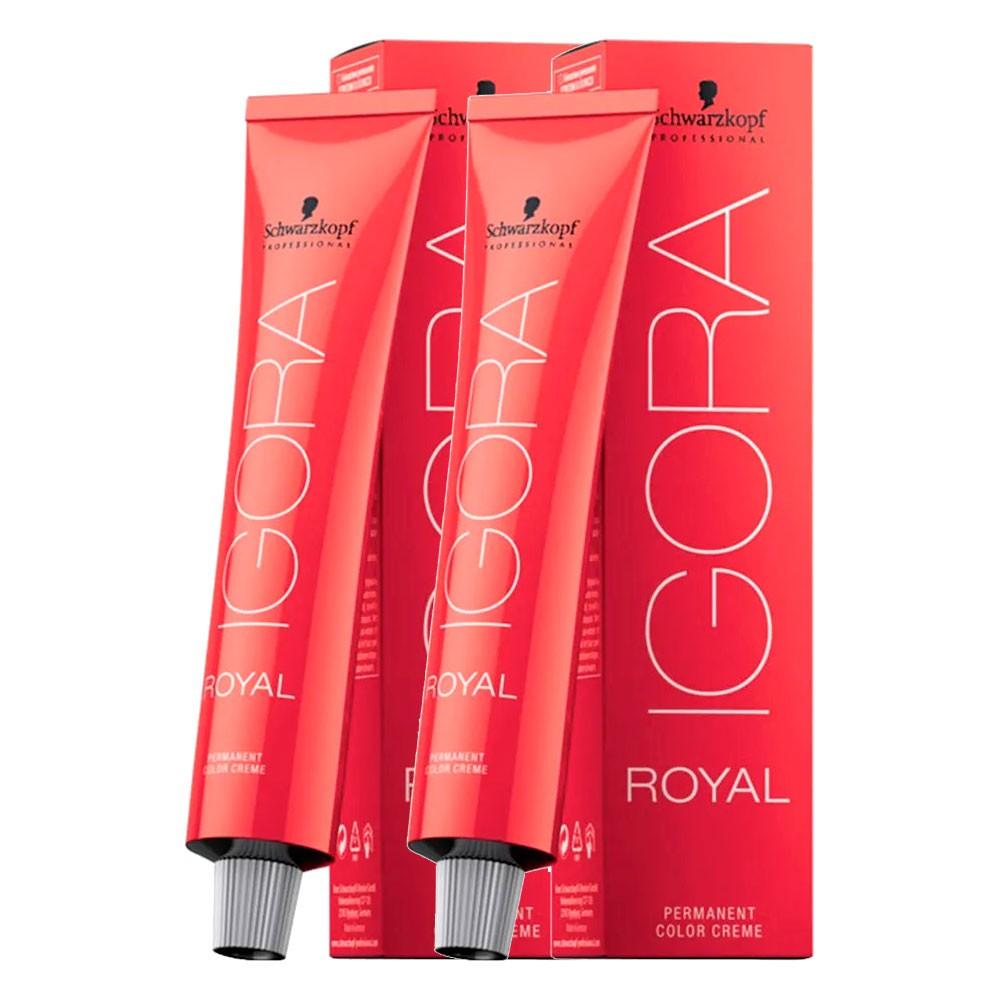 Kit 2 Coloração Igora Royal 8.77 Louro Claro Cobre Extra 60g