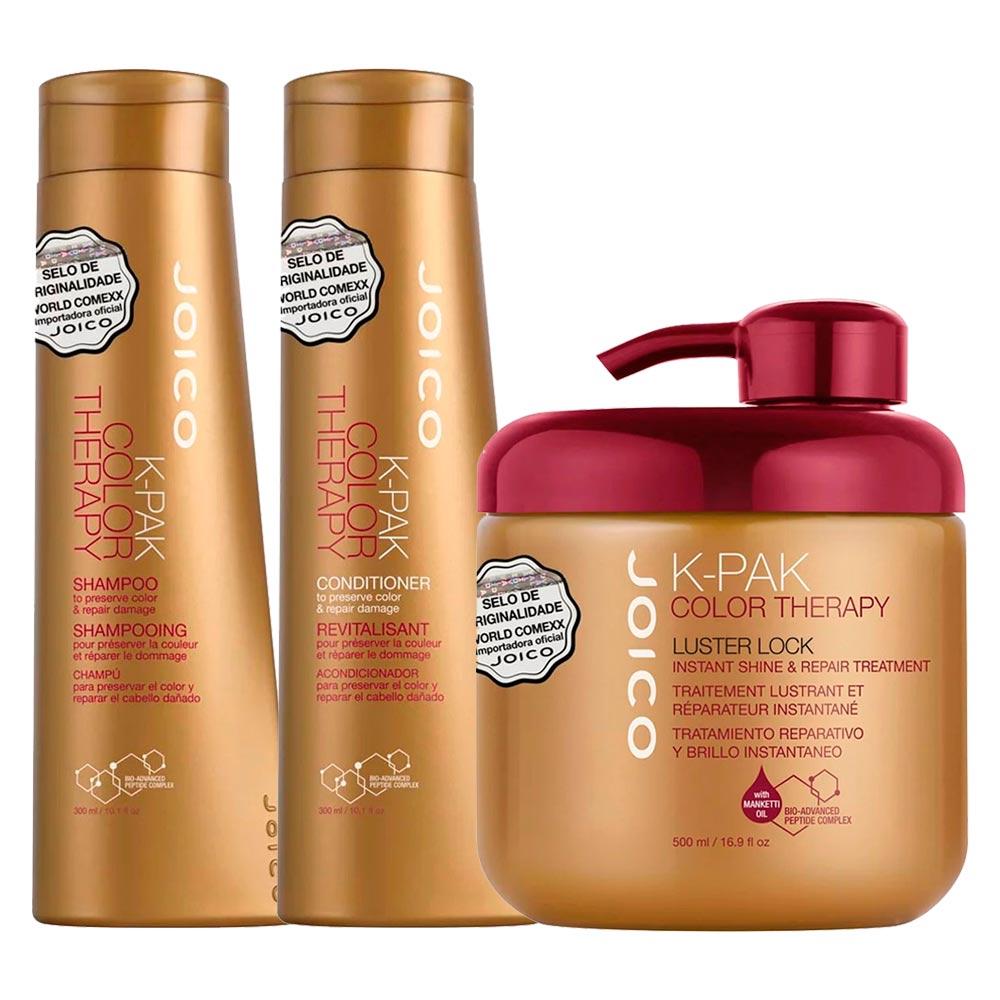 Kit Joico K-Pak Color Therapy Shampoo + Condicionador + Máscara 500ml