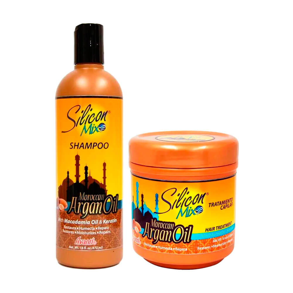 Kit Silicon Mix Moroccan Argan Oil - 2 Produtos