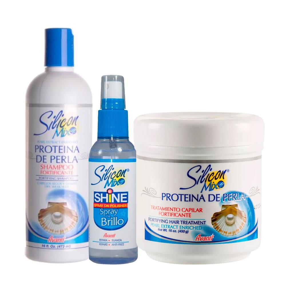 Kit Silicon Mix Proteína de Perla + Spray de Brilho