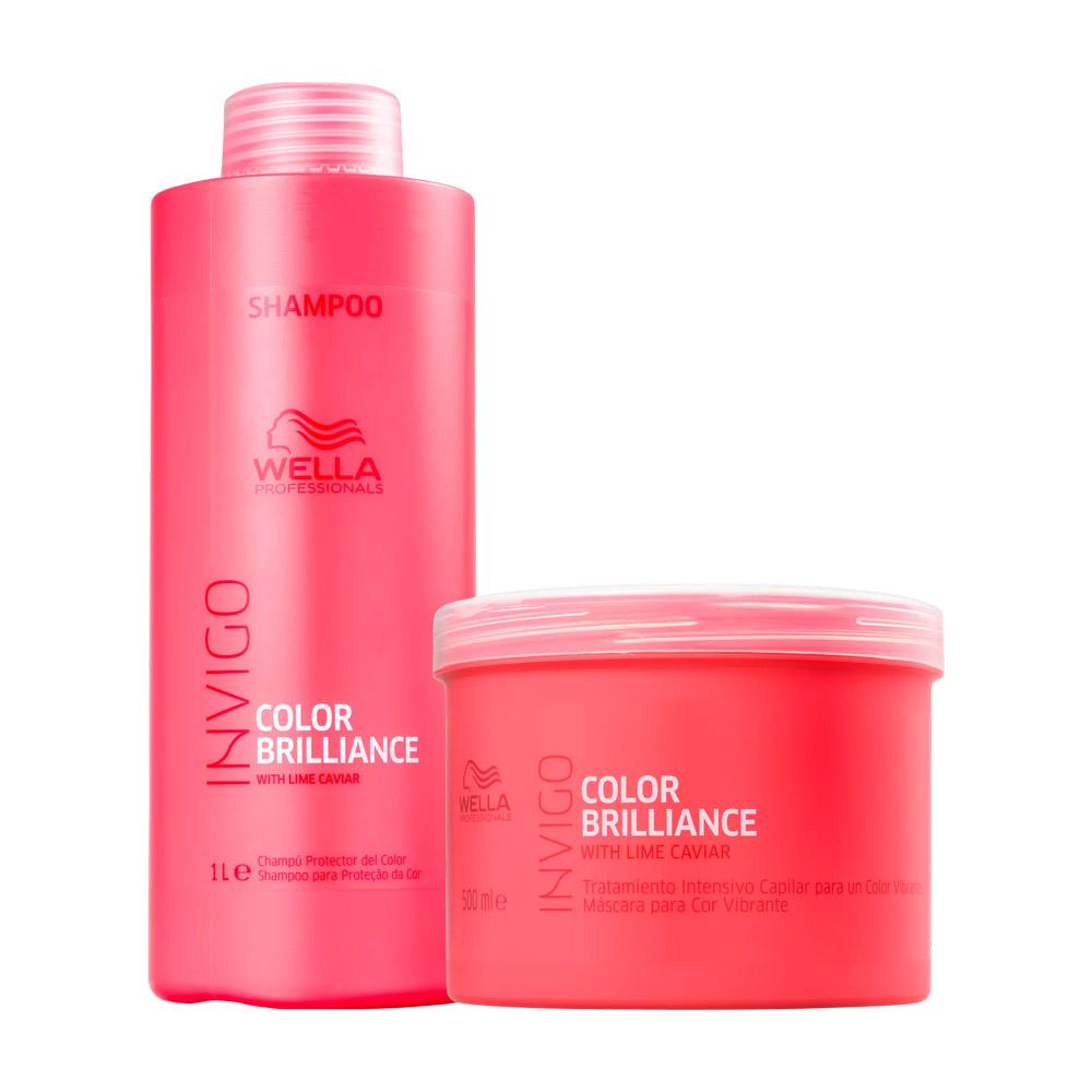 Kit Wella Invigo Color Brilliance Shampoo e Máscara