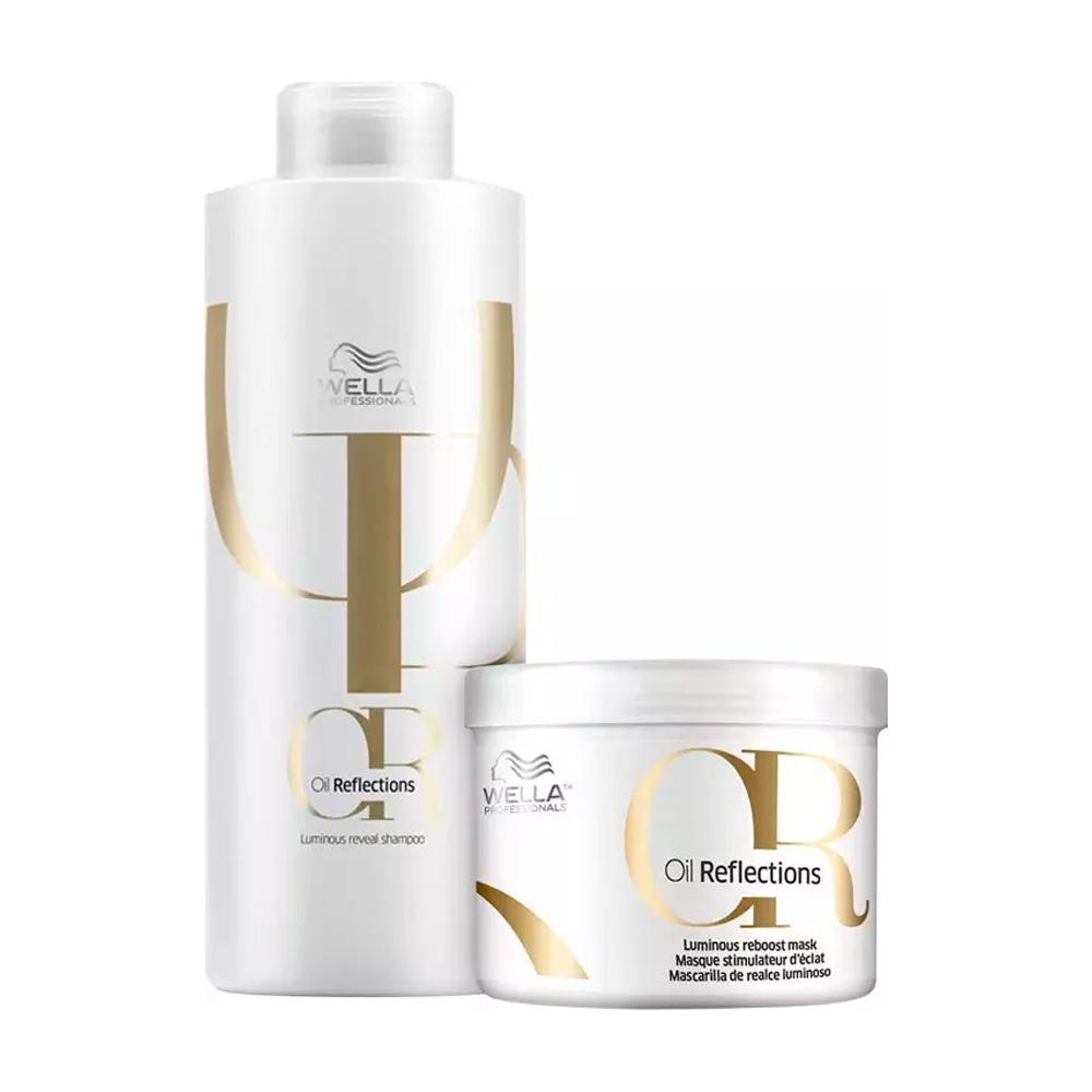 Kit Wella Oil Reflections Shampoo e Máscara - 2 Produtos