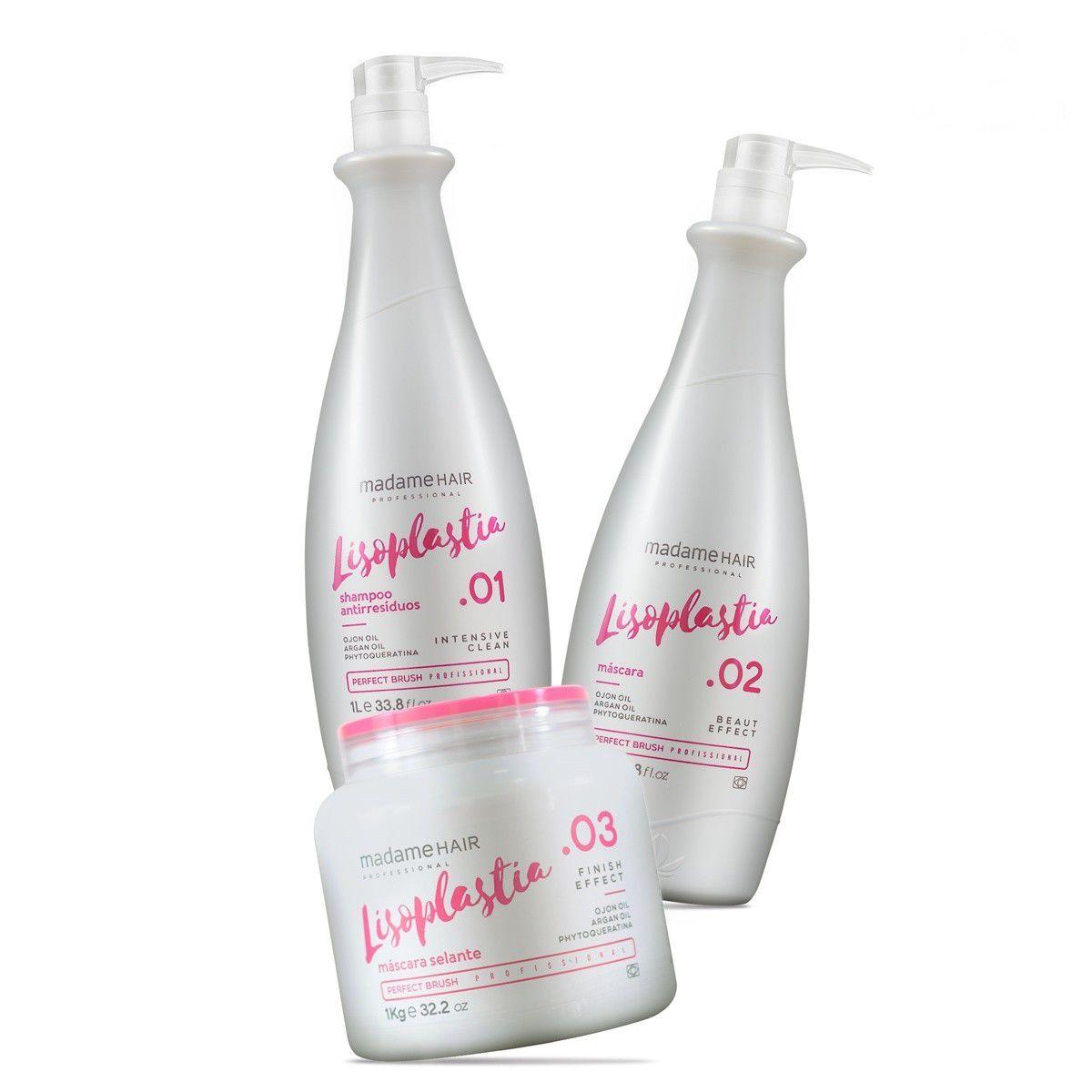 Escova Progressiva Madame Hair Lisoplastia 3x1000ml