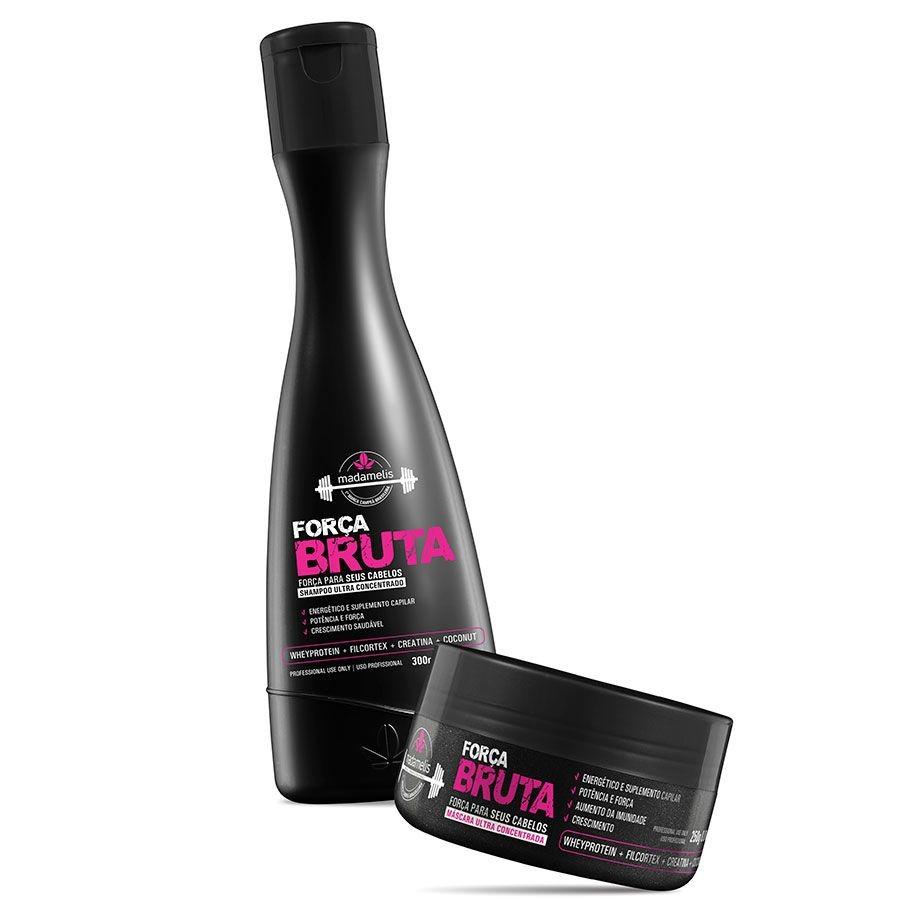 Madamelis Força Bruta Ultra Concentrado Kit Shampoo e Máscara