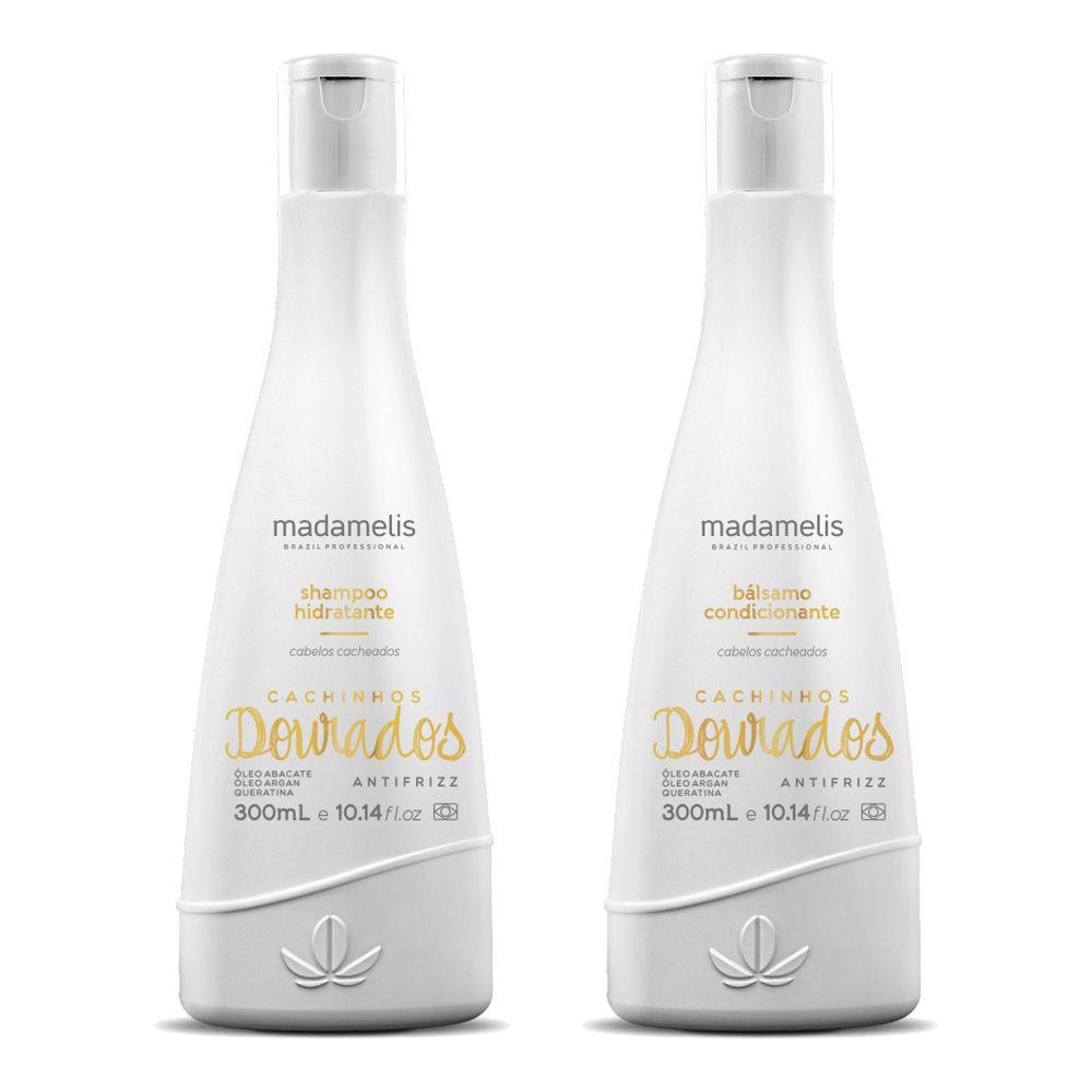 Kit Madamelis Cachinhos Dourados Shampoo e Bálsamo