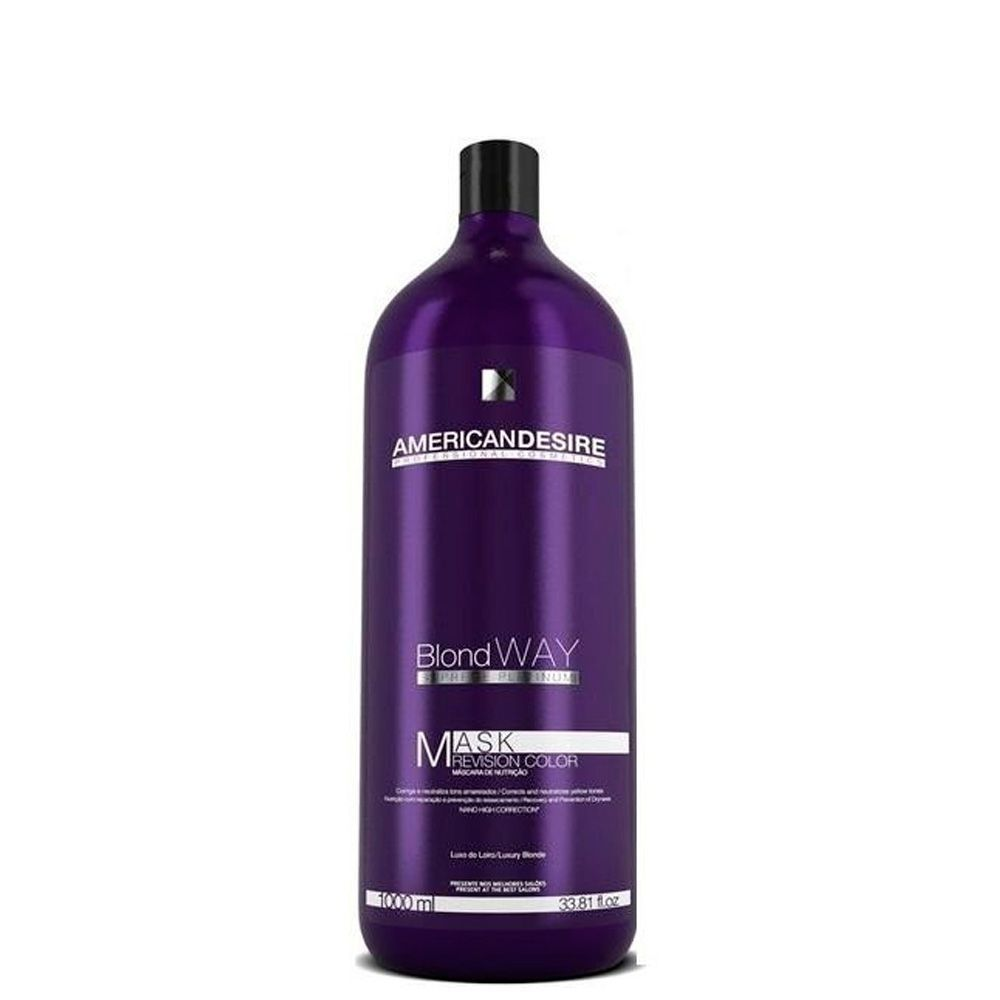Máscara American Desire Blond Way Platinum 1000ml