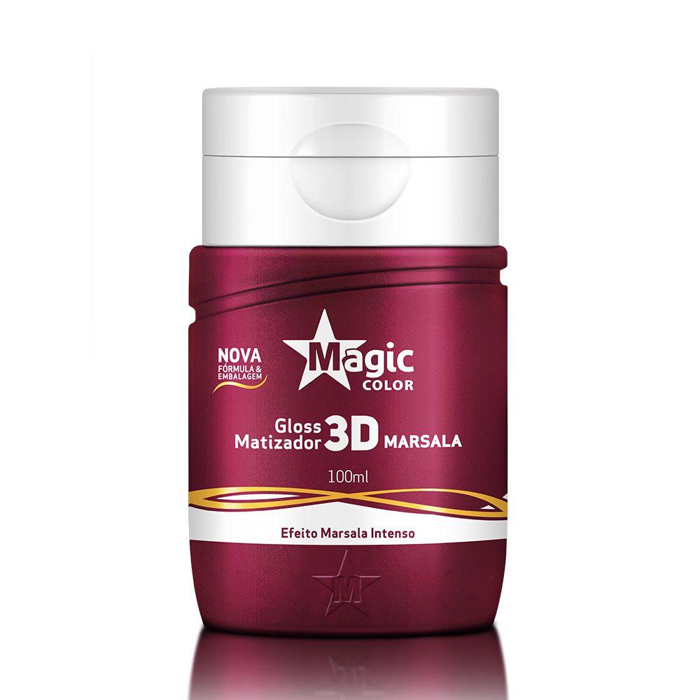 Matizador Magic Color Gloss 3D Marsala 100ml