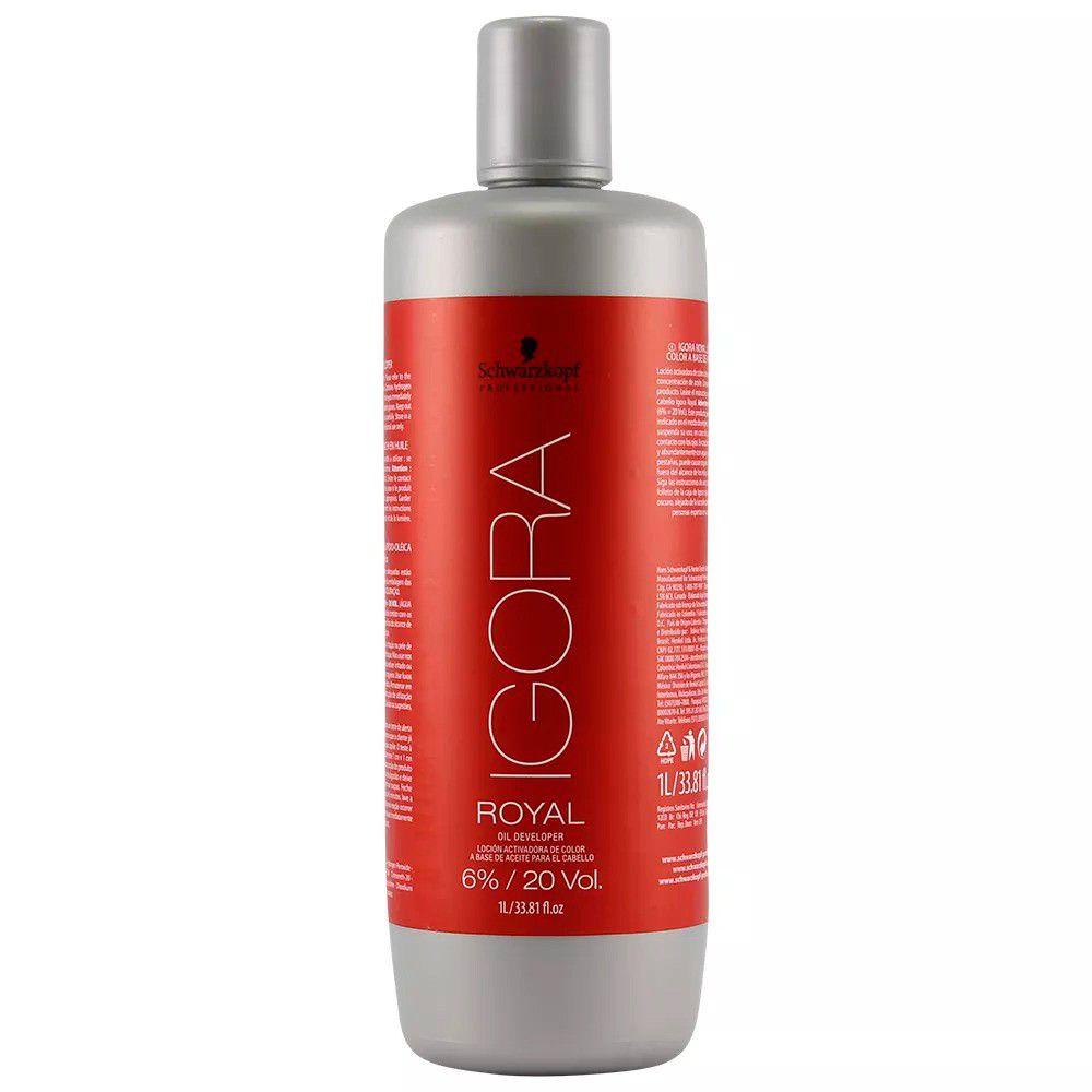 Kit Coloração Igora Royal 6-00 + OX 20 Vol 1 Litro