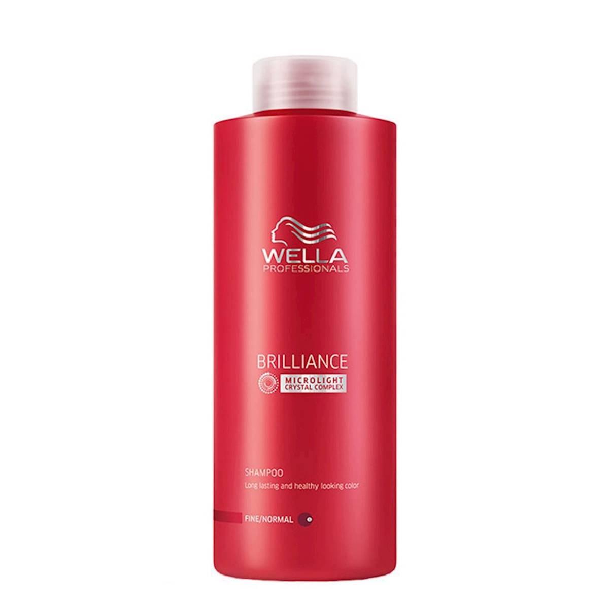 Shampoo Wella Brilliance Para Cabelos Coloridos 1 Litro
