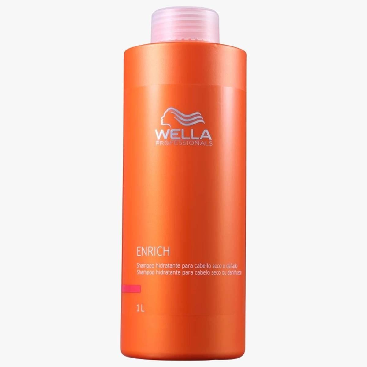 Shampoo Wella Enrich Para Cabelos Secos 1 Litro