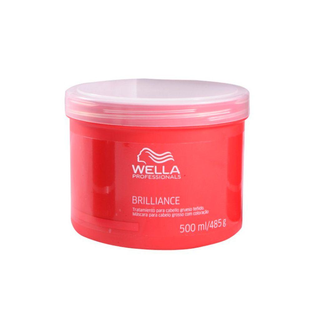 Wella Brilliance Máscara de Hidratação Cabelos Grossos 500ml