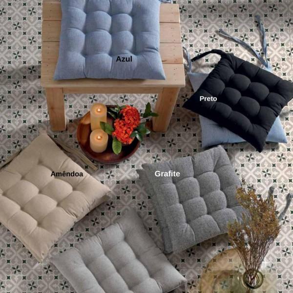Almofada Futton para cadeira 45x45cm - Grafite