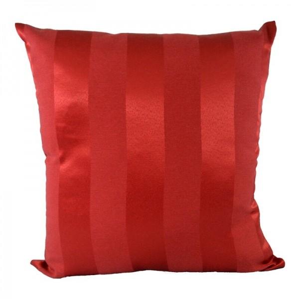 Capa De almofada 58% Algoidão 42% Poliéster - Listrada Vermelha