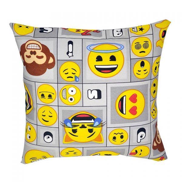 Capa de almofada decorativa infantil Emoticons