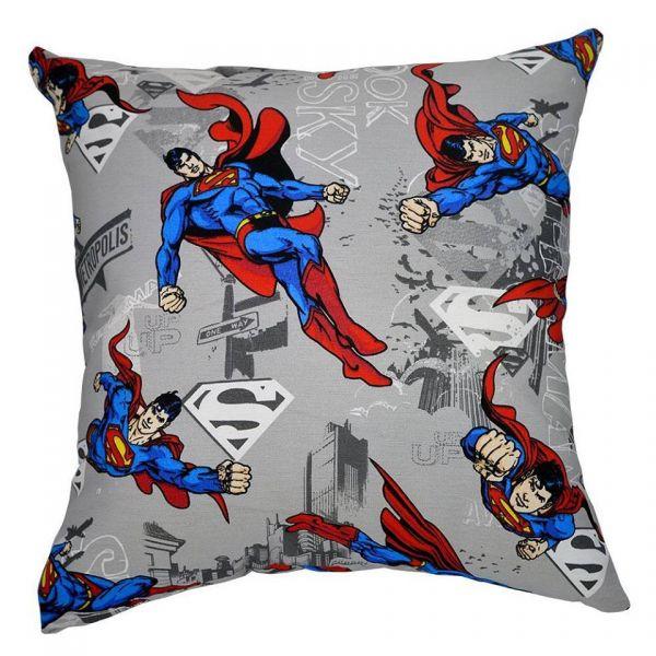 Capa de almofada decorativa infantil Super-Homem
