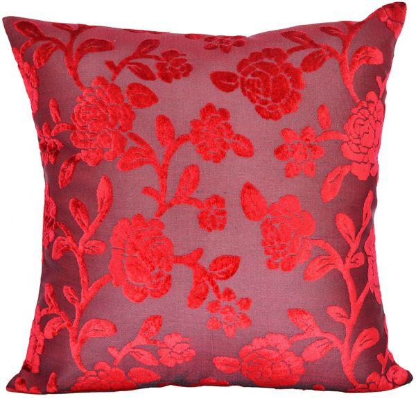 Capa de almofada veludo gold florida vermelho