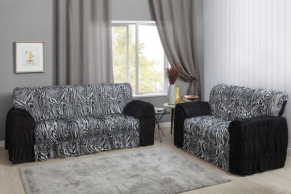 Capa de sofá 3 e 2 lugares - estampado zebra - Adomes