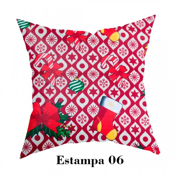Capa para Almofada Natalina - Estampa 06