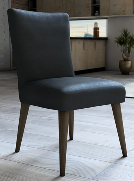 Capa para cadeira de veludo liso Aço - Adomes