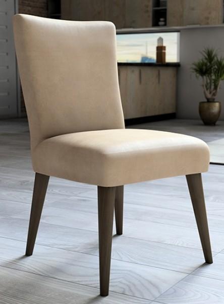 Capa para cadeira de veludo liso Champanhe - Adomes