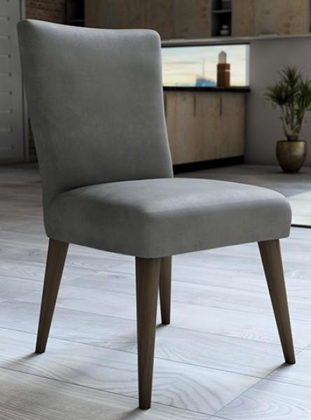 Capa para cadeira de veludo liso Cinza - Adomes