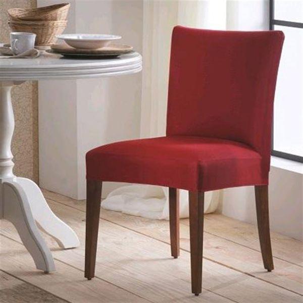 Capa para cadeira malha lisa vermelho - Adomes
