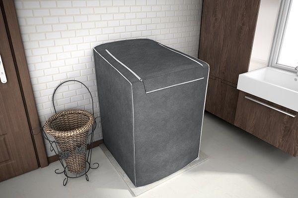 Capa para máquina de lavar roupa de 10kg a 11,5kg - Cor Chumbo - adomes