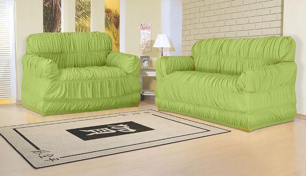 Capa para sofá 2 e 3 lugares com 21 elásticos Verde Ervilha - América