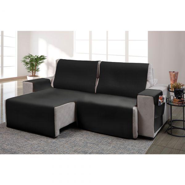 Capa para sofá retrátil Ônix para assento de 1,60m cinza - Adomes