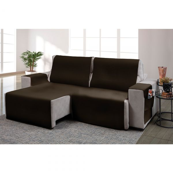 Capa para sofá retrátil Ônix para assento de 1,80m rato fosco - Adomes