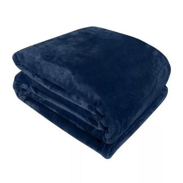 Cobertor queen azul marinho - Naturalle Fashion