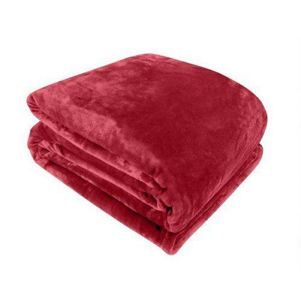 Cobertor queen vermelho - Naturalle Fashion