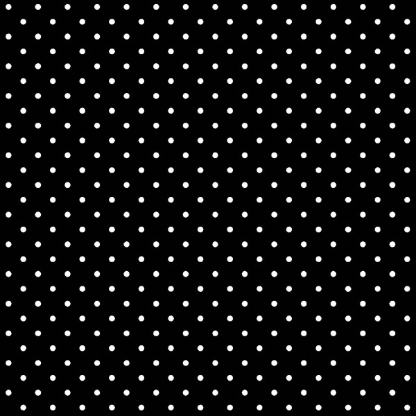 Tecido Tricoline estampado Poá branco fundo preto