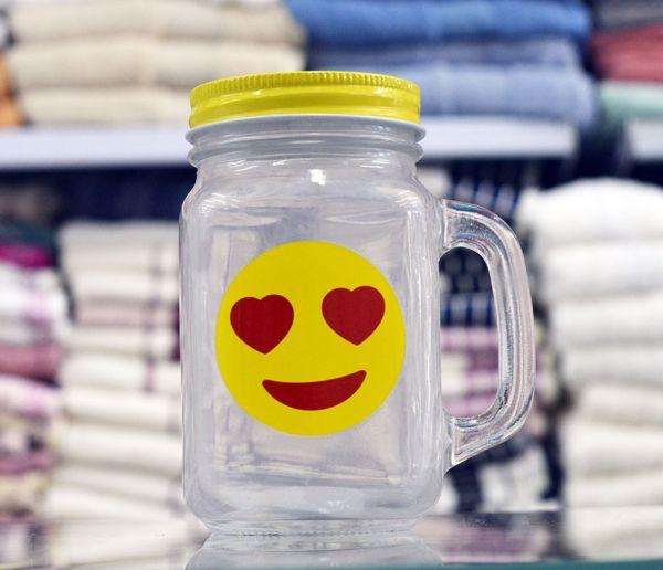 Copo com canudo emoji 450 ml - vários emojis - Niazitex