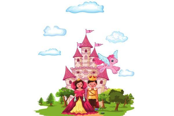 Cortina de malha infantil Príncipe e Princesa 1,80 m alt x 2,00 m larg - Adomes