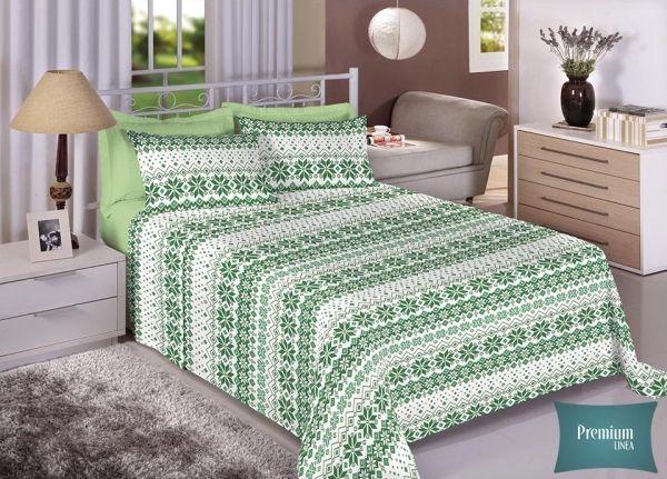 Jogo de cama casal Percal 100% Algodão 180 Fios - Premium Line Estamparia - 7232-1