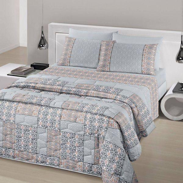 Jogo de cama casal Royal Malai 100% algodão estampado Mandala - Santista